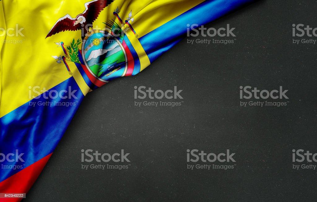 Bandera de Ecuador en pizarra - foto de stock