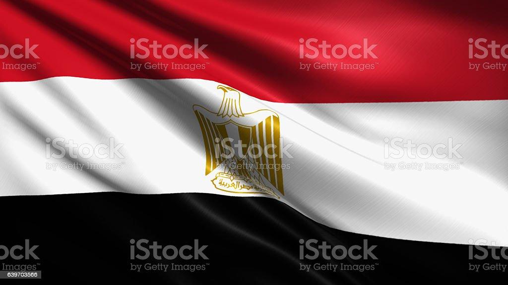 Bandera de Egipto - foto de stock