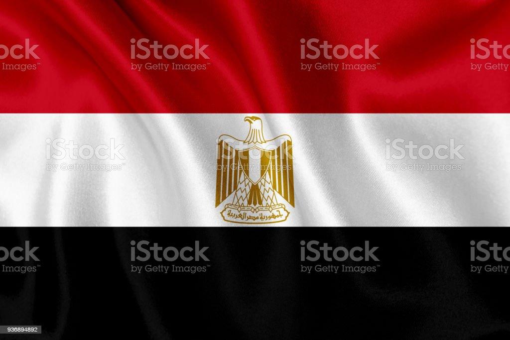 Bandera de Egipto agitando el fondo - foto de stock