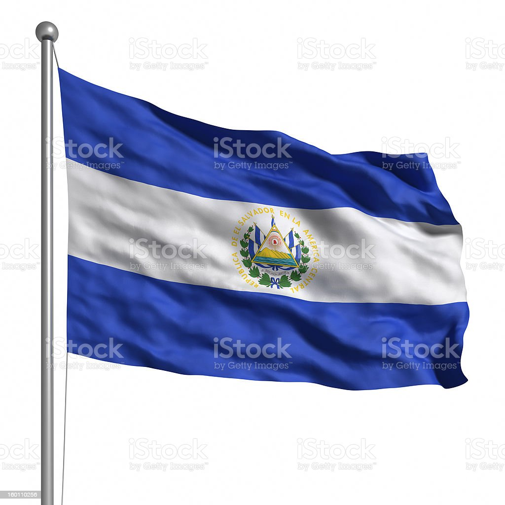 Flag of El Salvador (Isolated) royalty-free stock photo