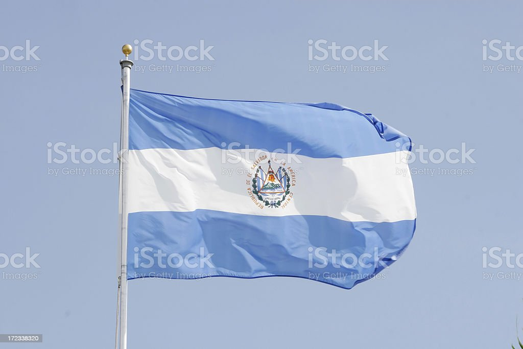Flag of El Salvador royalty-free stock photo