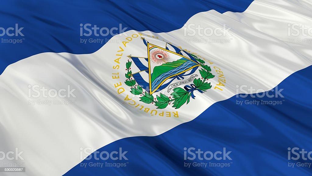 Flag of El Salvador. stock photo