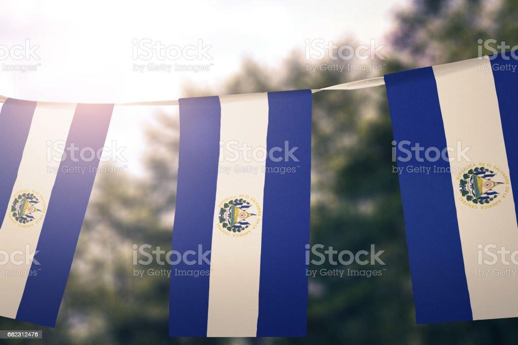 Bandera del Salvador - foto de stock