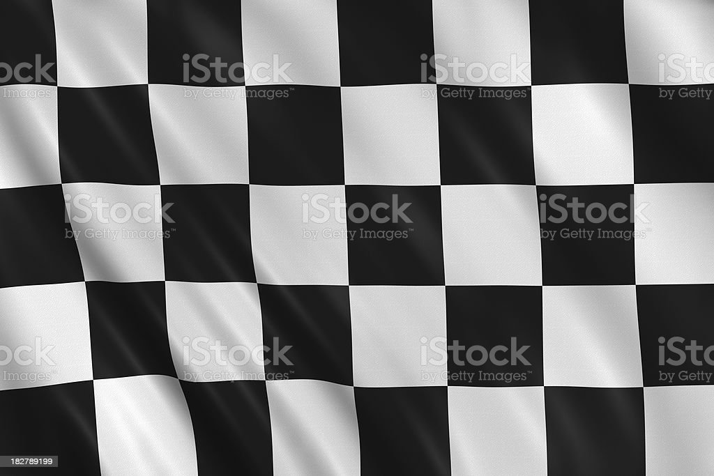 flag of end race stock photo