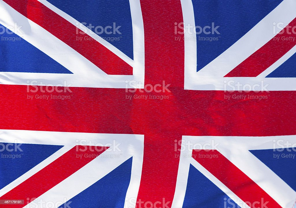 Flag of England in  wind royalty-free stock photo