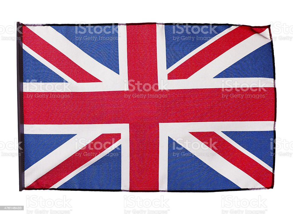 Flag of England on white background royalty-free stock photo