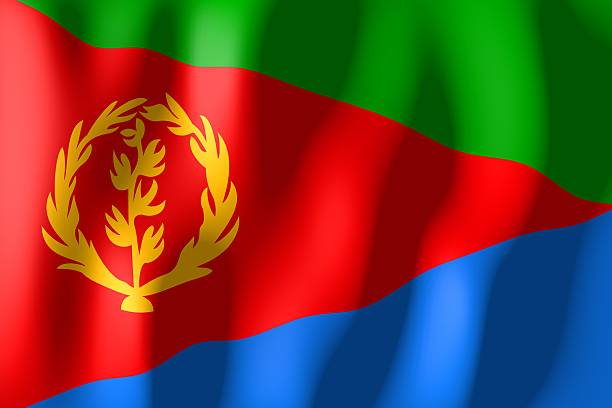 flag of eritrea - eritrea stock photos and pictures