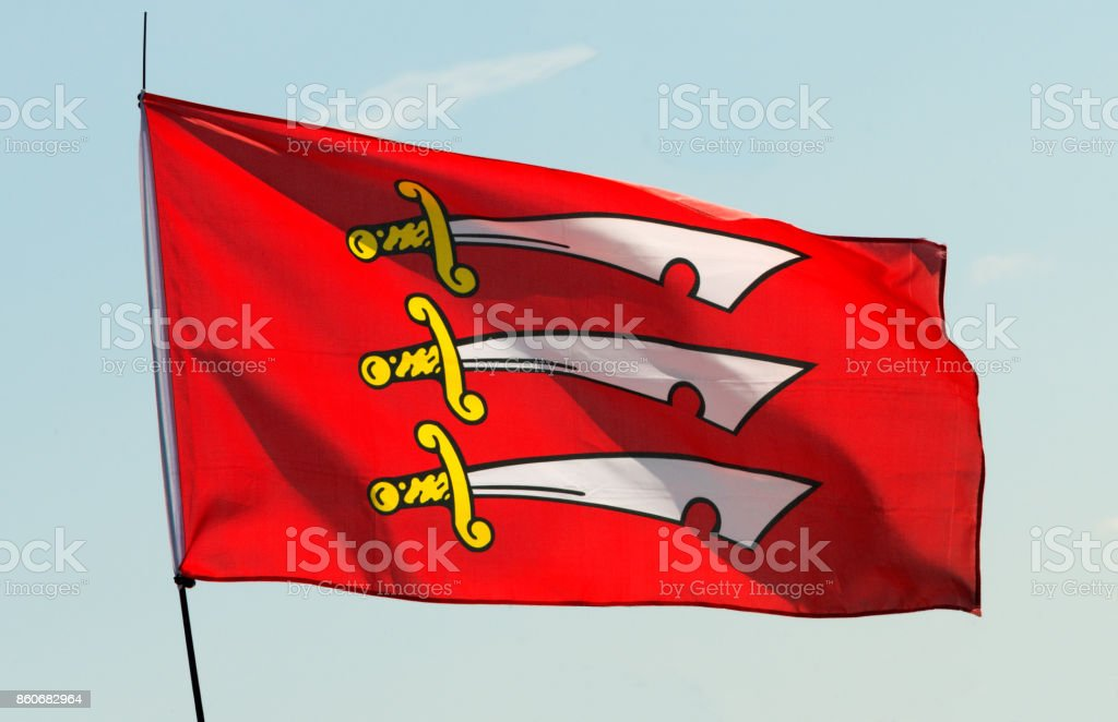 Flag of Essex stock photo