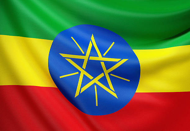 flag of ethiopia - ethiopian flag stock photos and pictures