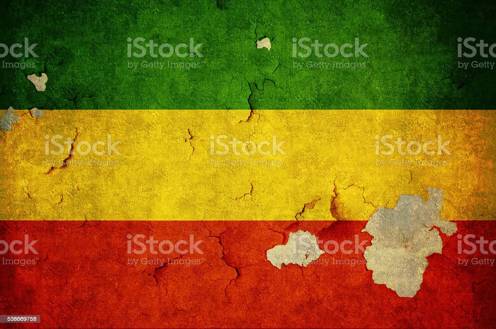 Flag of Ethiopia stock photo