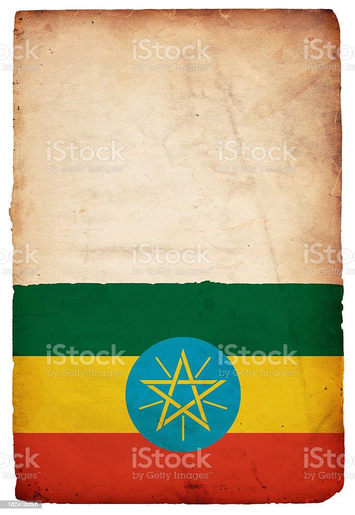 Flag of Ethiopia - XXXL stock photo
