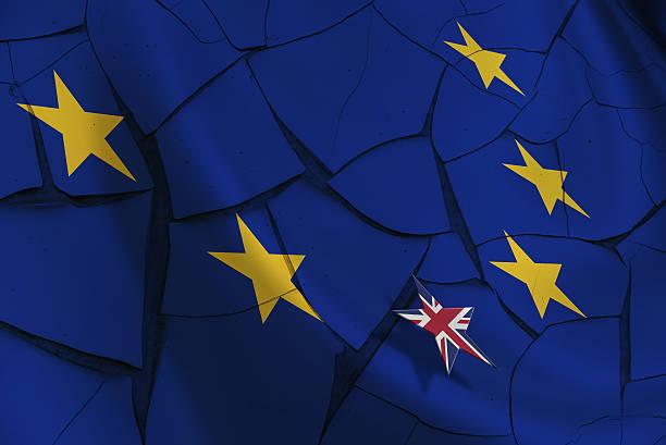 flagge der europäischen union und zwölf gold (gelb) sternenhimmel. - trennungssprüche stock-fotos und bilder