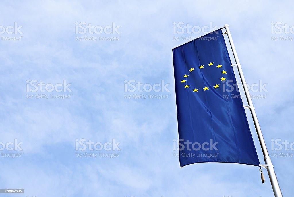 Flag of EU stock photo