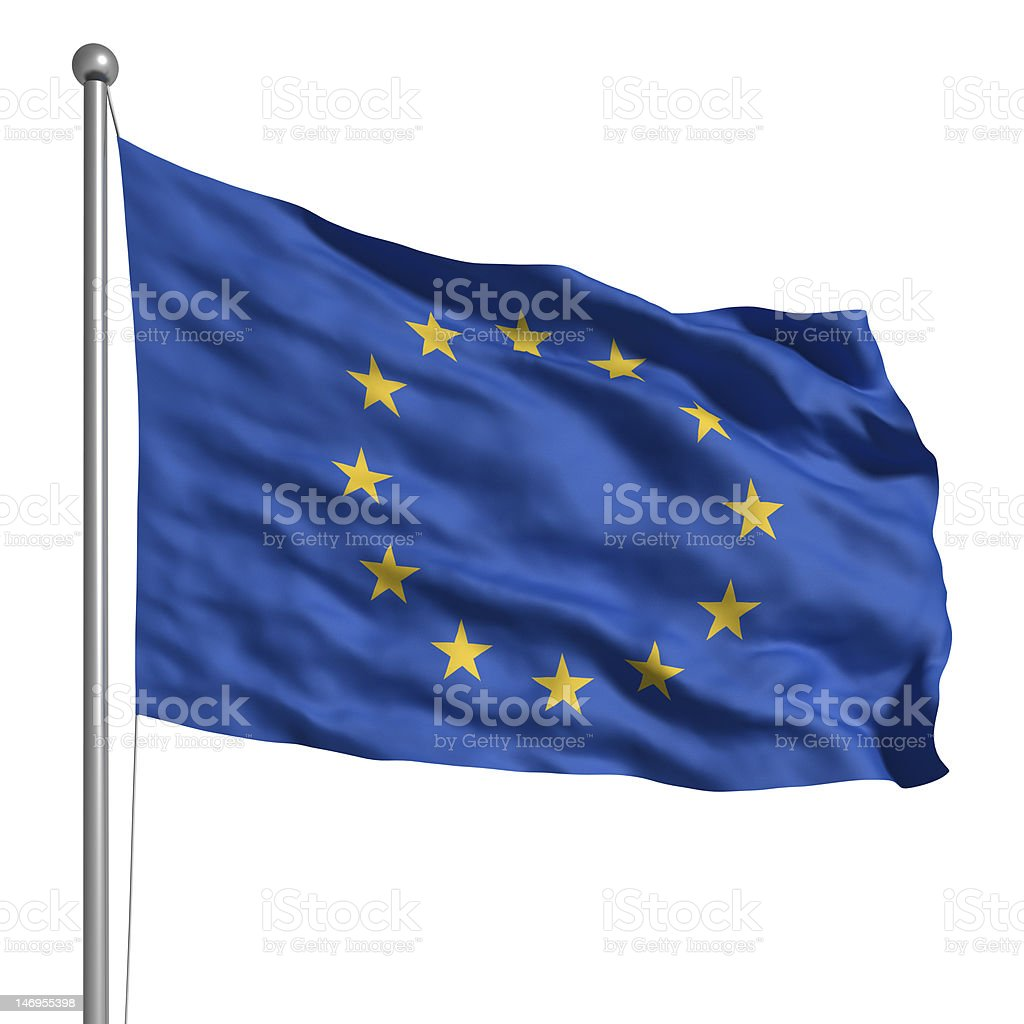Flag of Europe (Isolated) stock photo