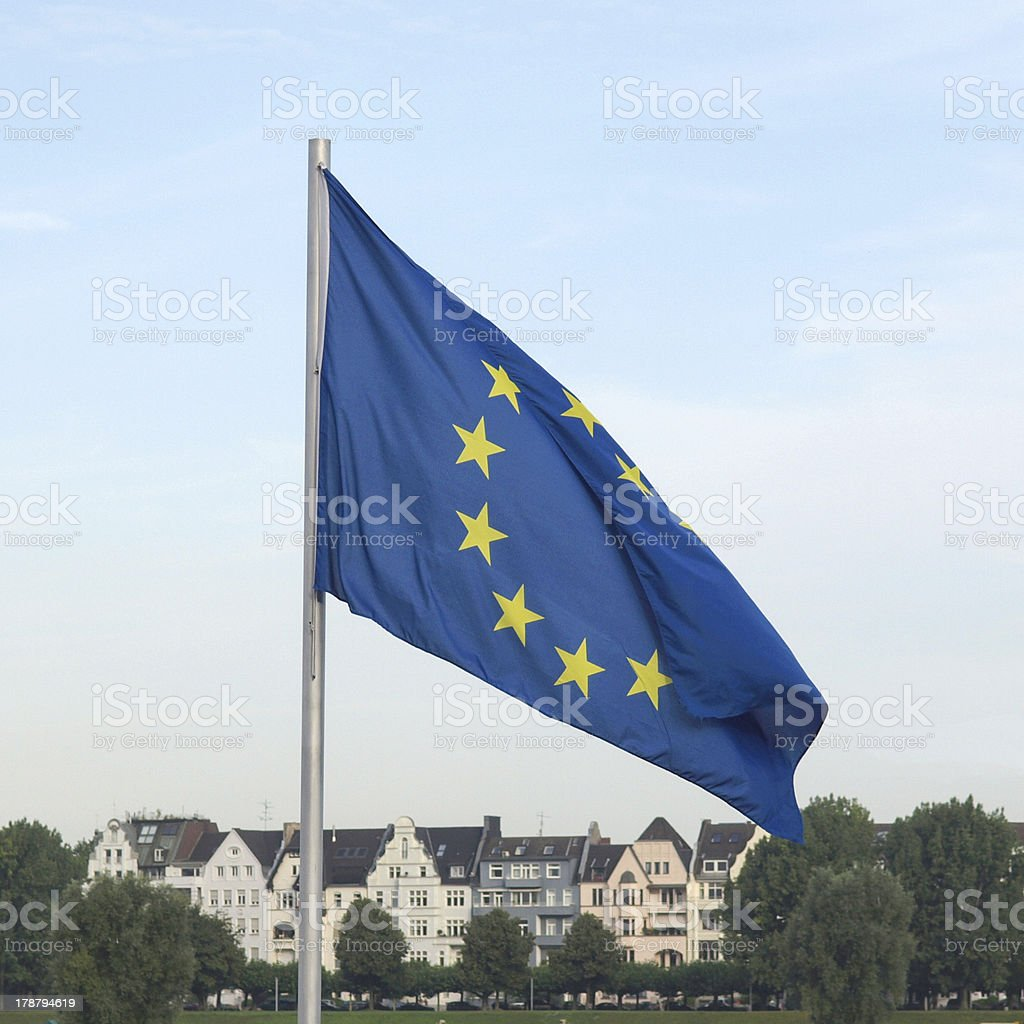 Flag of Europe royalty-free stock photo
