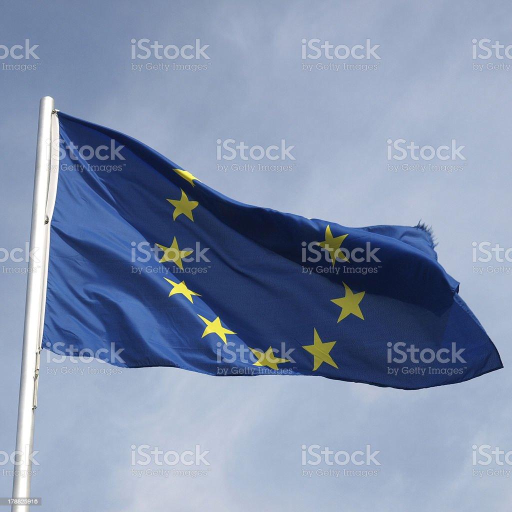 Flag of Europe royalty-free stock photo