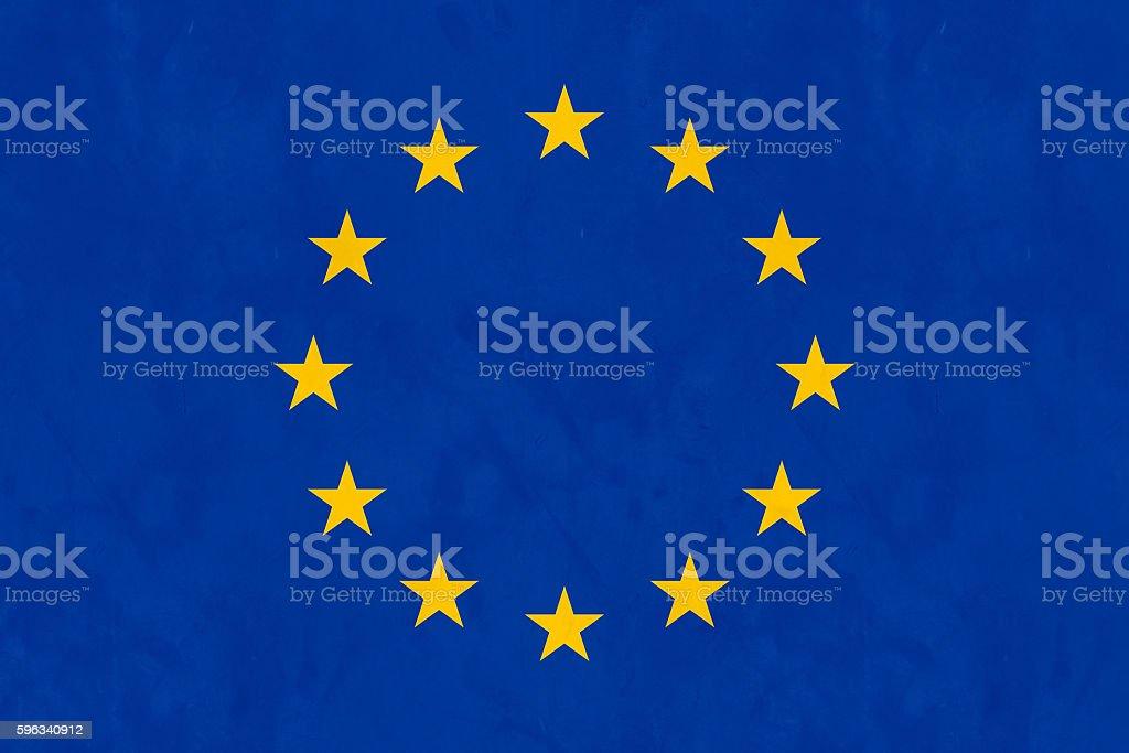 Flag Of Europe (EU Flag) royalty-free stock photo