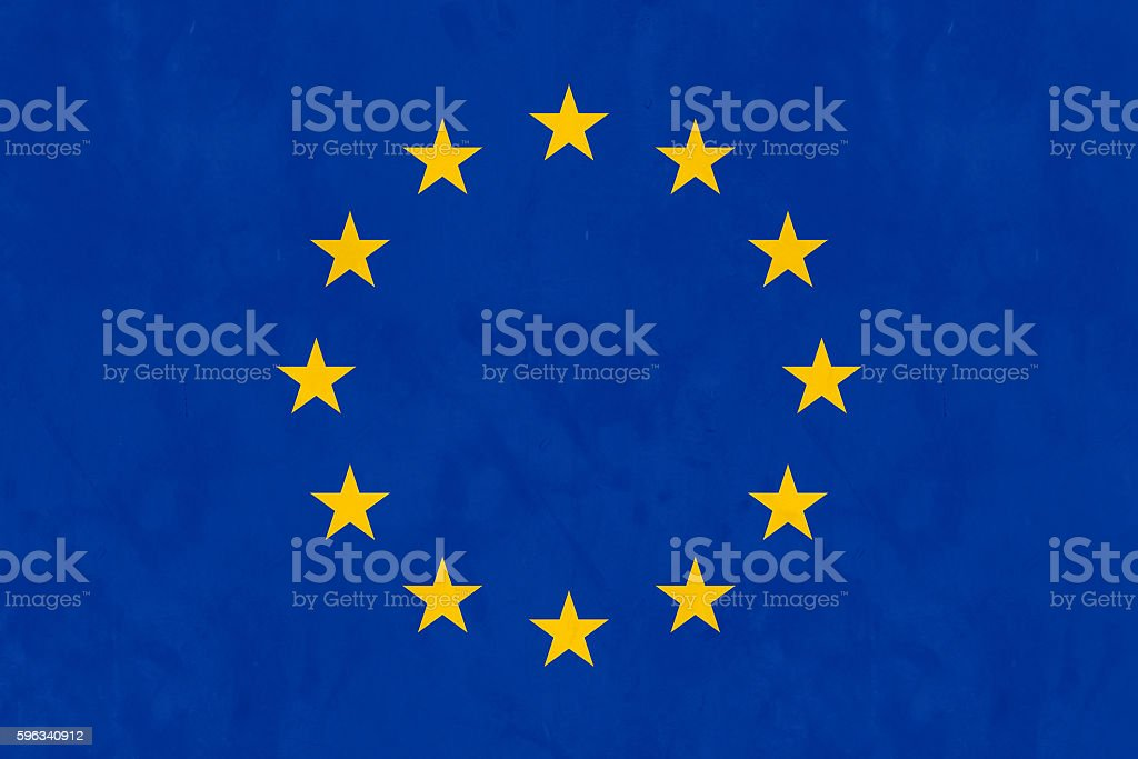 Flag Of Europe (EU Flag) stock photo