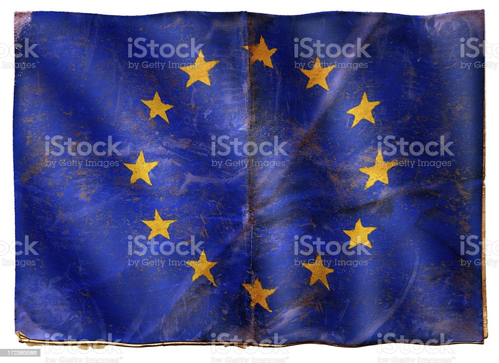 Flag of Europe XXL royalty-free stock photo