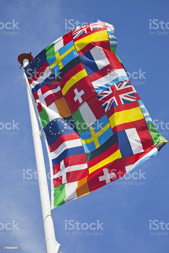 Flag of Europe # 1 XXXL royalty-free stock photo