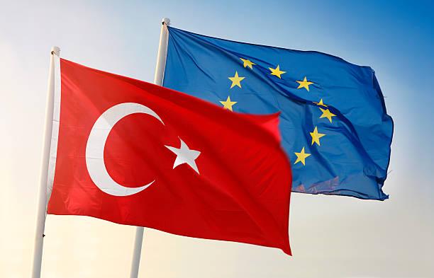 Flag of European Union and Turkey – Foto