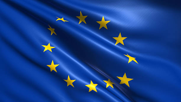 flag of european union - europe stock photos and pictures
