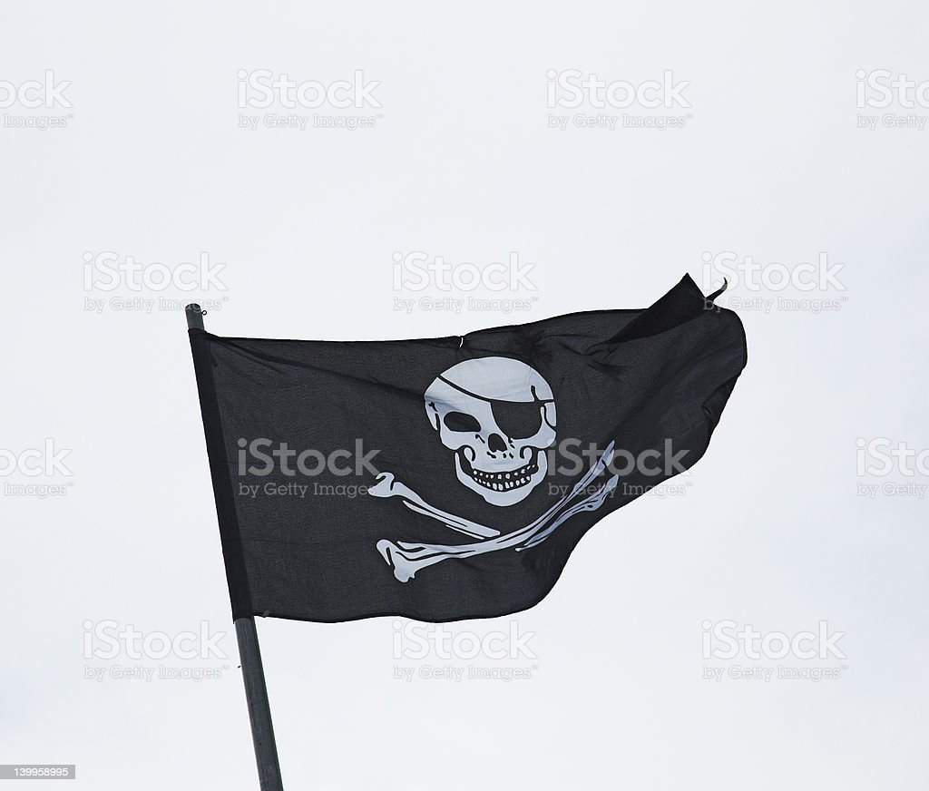 Flag of fear royalty-free stock photo