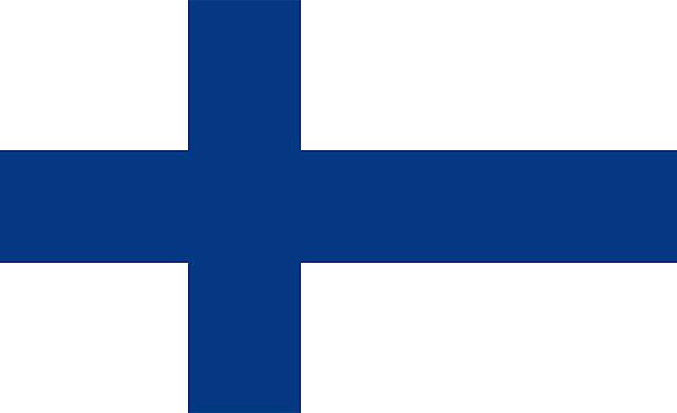 Bandeira da Finlândia - foto de acervo