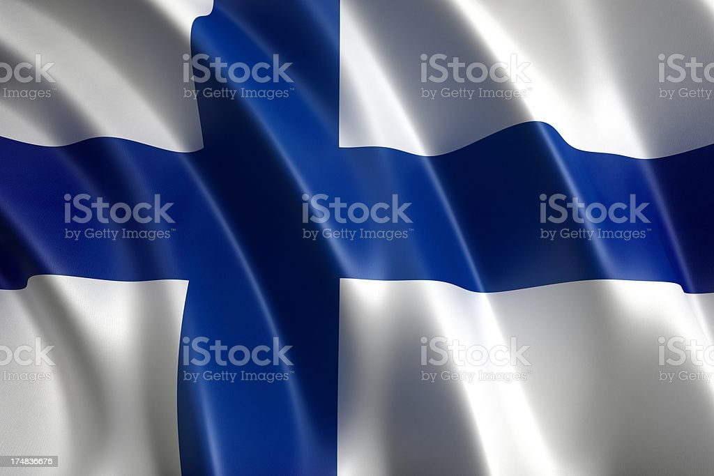 Flag of Finland royalty-free stock photo