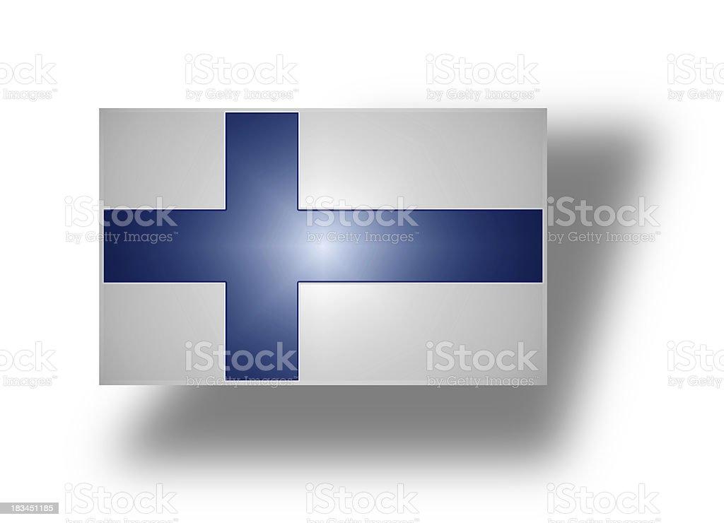 Flag of Finland (stylized I). stock photo
