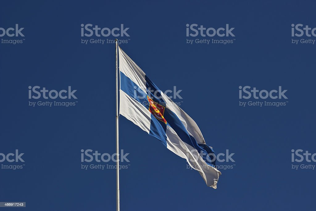 Flag of Finland stock photo