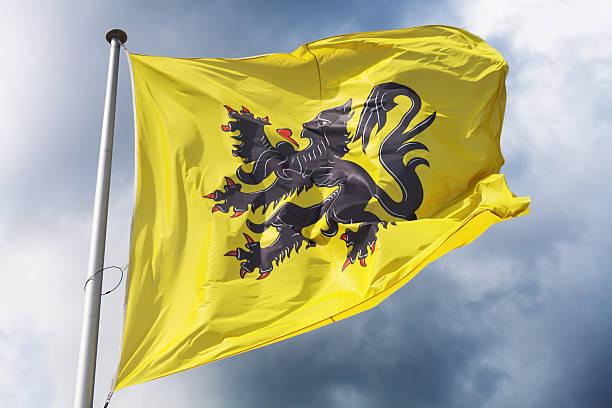 Flag of Flanders stock photo