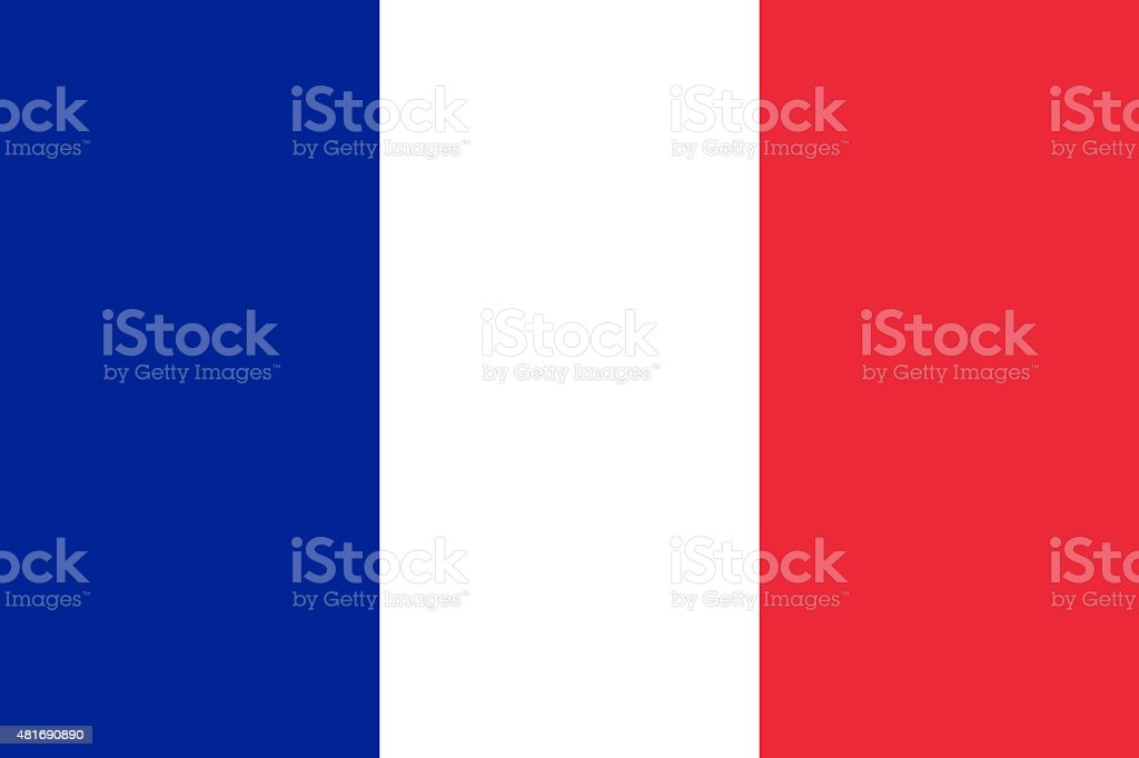 Drapeau de la France horizontales - Photo
