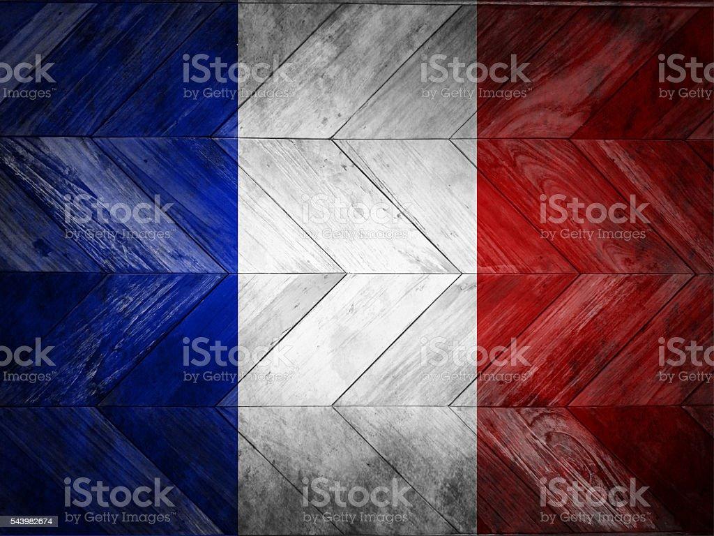 の旗フランスペインティッドの寄せ木細工のフロアー アメリカ国旗の