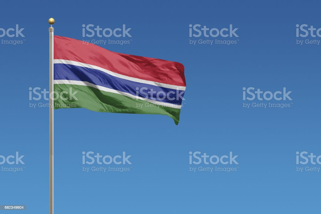 Flag of Gambia stock photo