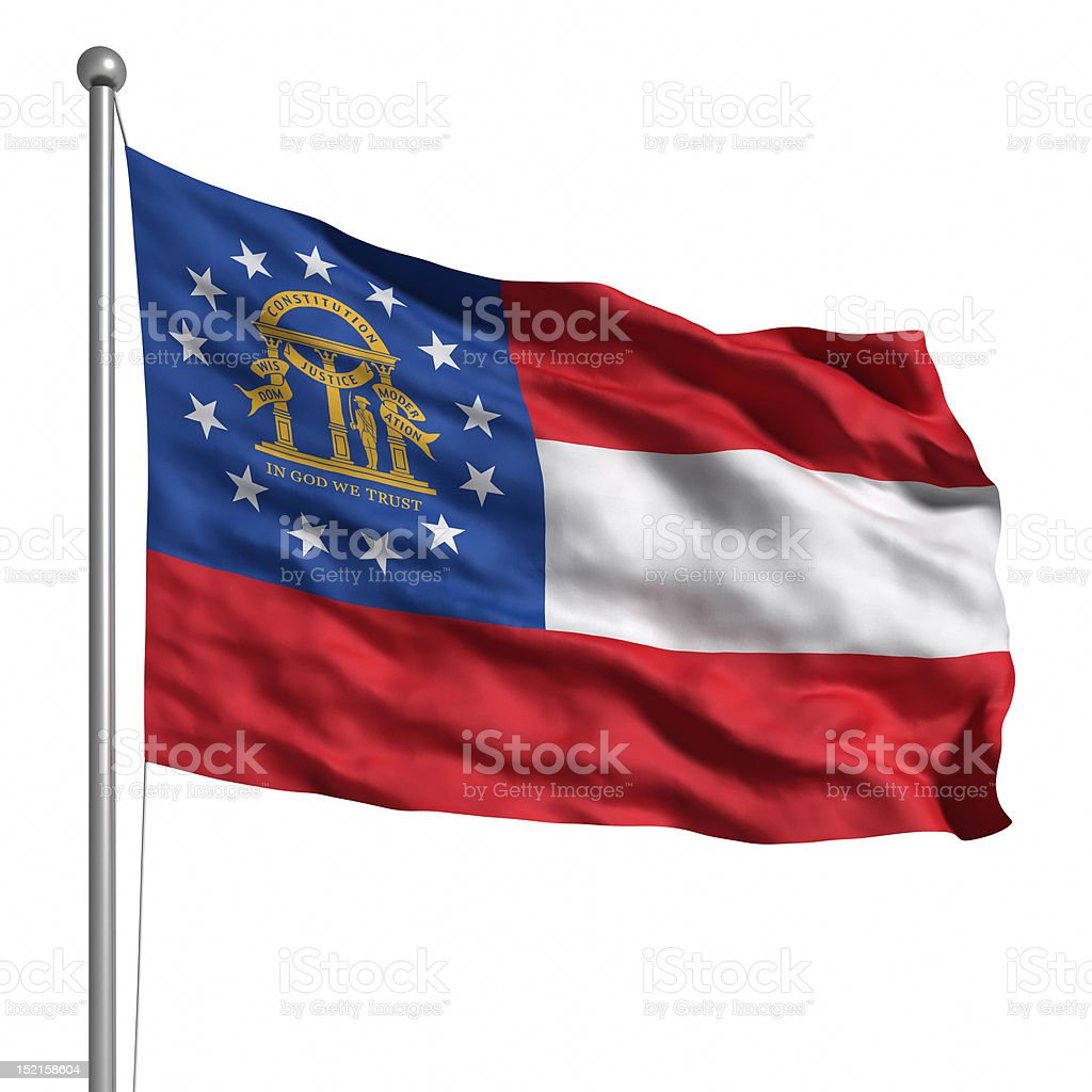 Flag of Georgia (isolated) royalty-free stock photo
