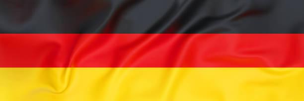 flagge von deutschland banner - stoffe berlin stock-fotos und bilder