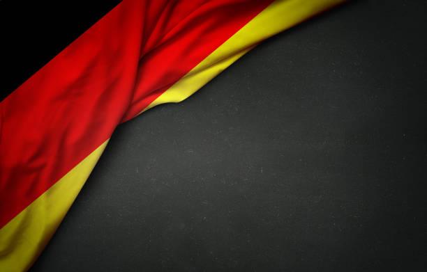flagge von deutschland an tafel - stoffe berlin stock-fotos und bilder