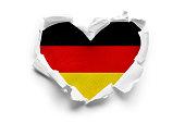 Flag of Germany on white