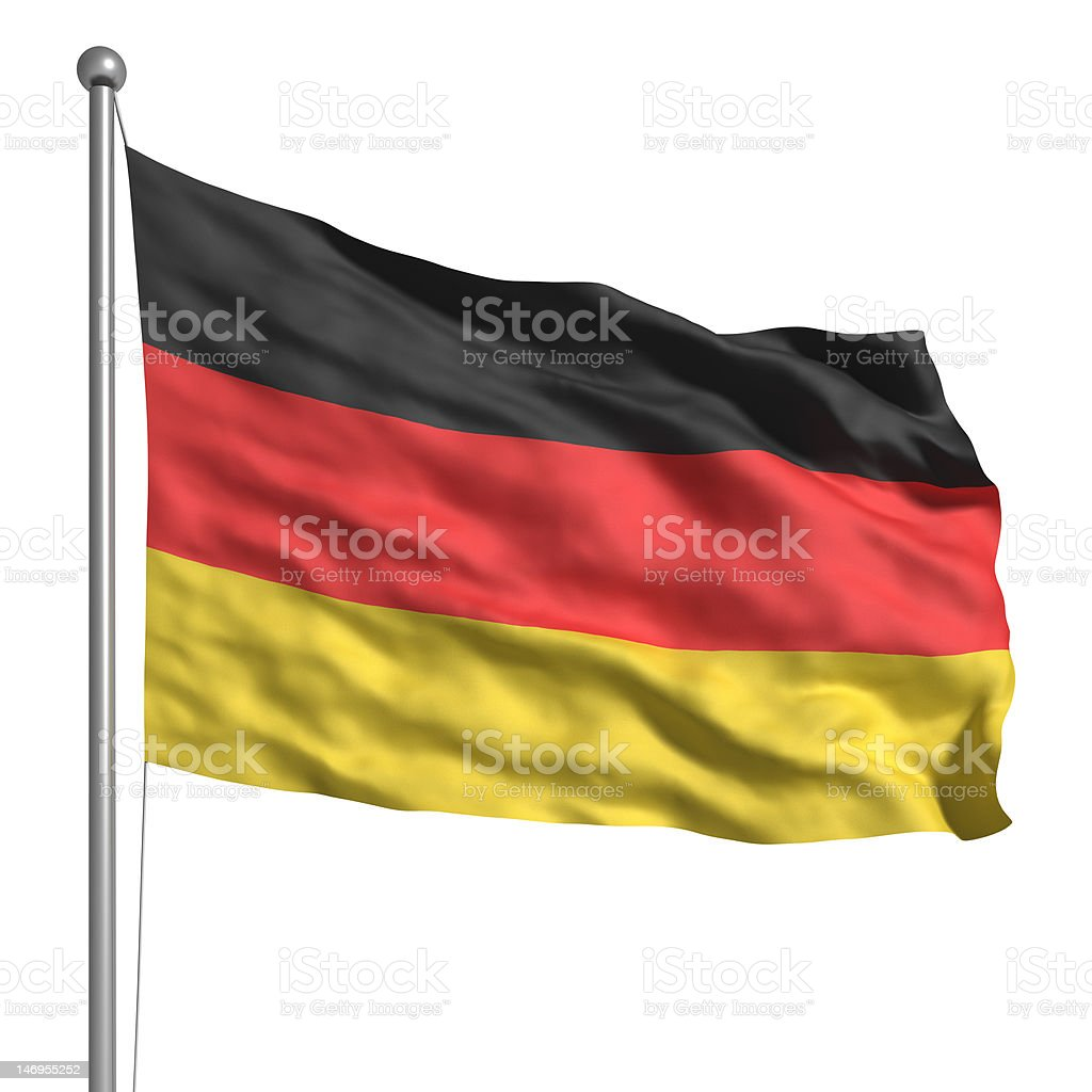 Flag of Germany (Isolated) stock photo