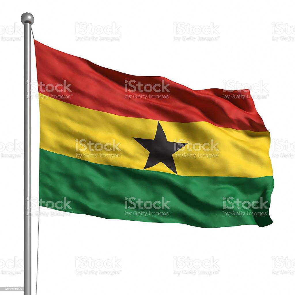 Flag of Ghana (Isolated) stock photo