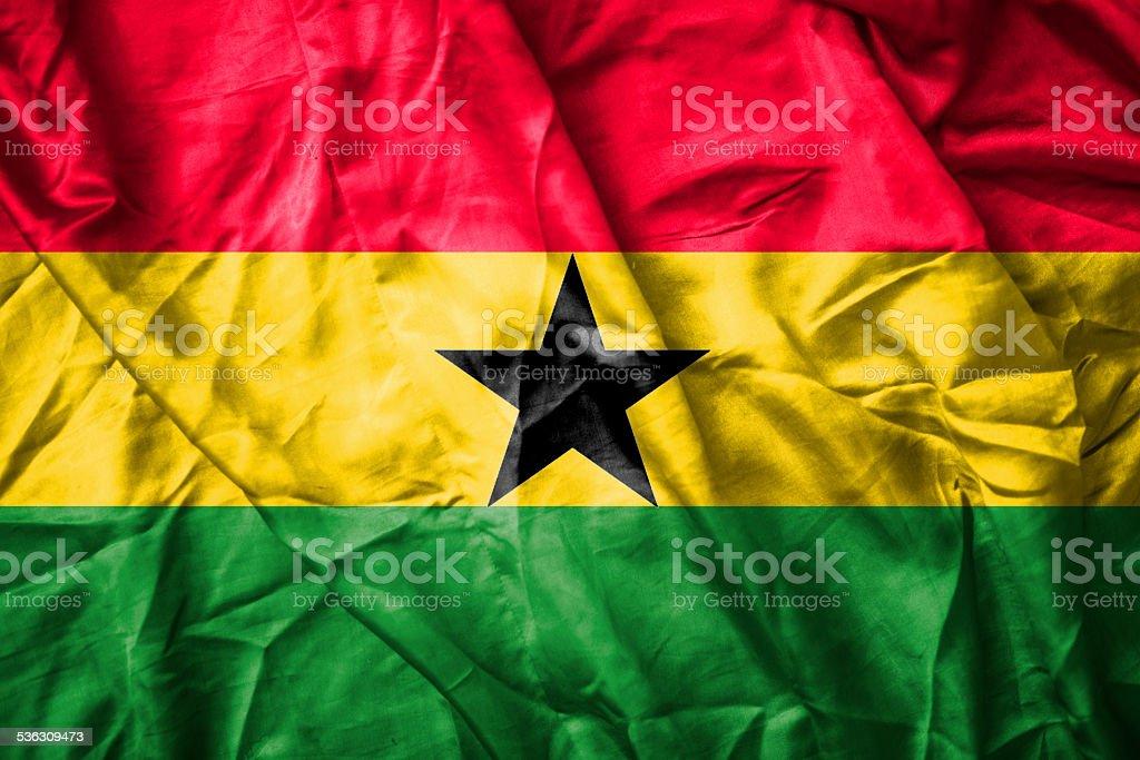 Flag of ghana stock photo