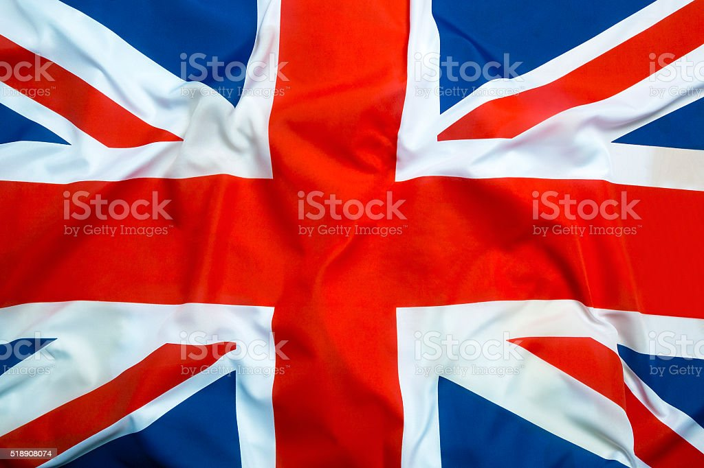 Flag of Great Britain stock photo