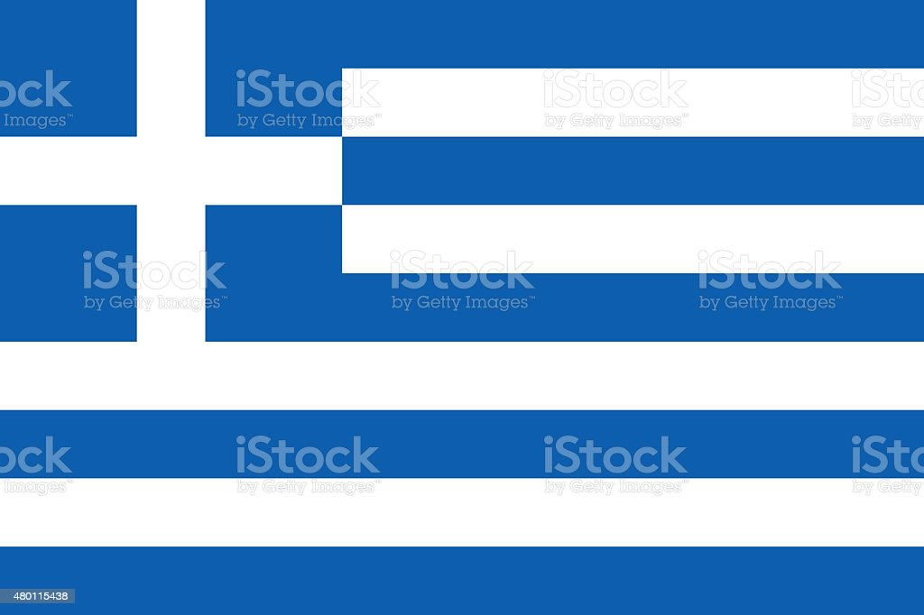 Flag of Greece, authentic version stock photo