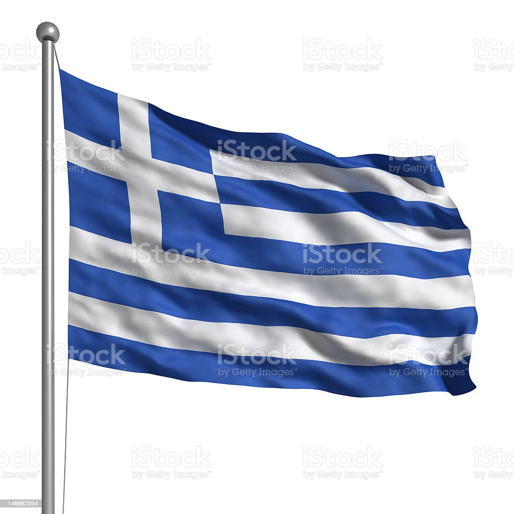 Flag of Greece (Isolated) stock photo