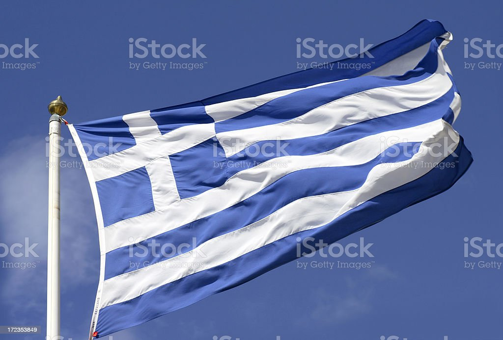 Flag of Greece royalty-free stock photo