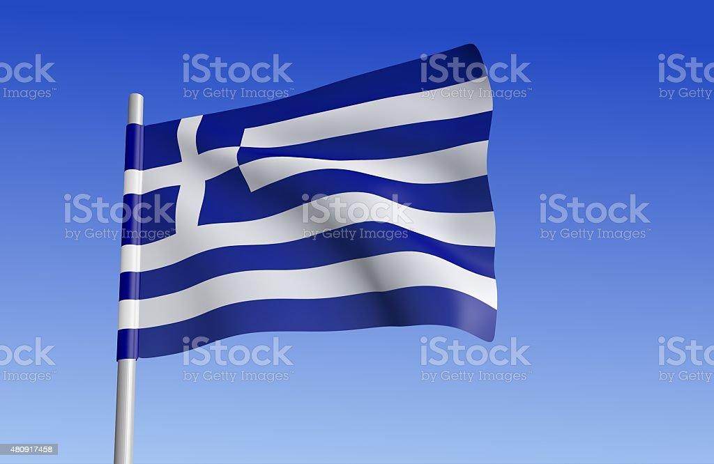 Flag of Greece. stock photo