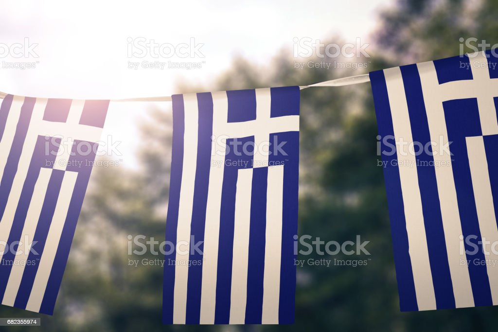 Flag of Greece foto stock royalty-free