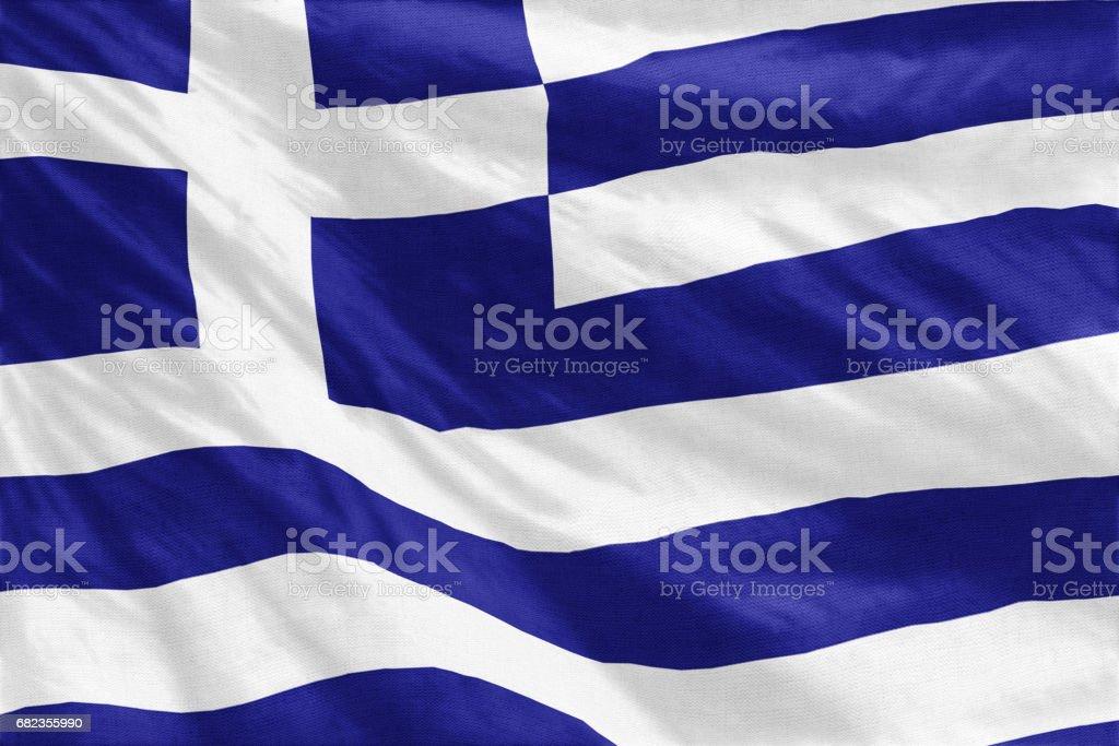 Flagga av Grekland royaltyfri bildbanksbilder