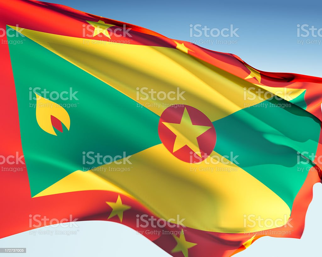 Flag of Grenada royalty-free stock photo